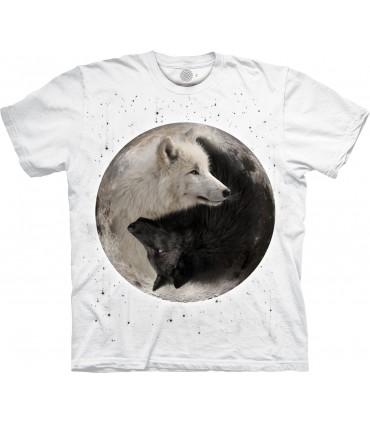 T-shirt Loups Yin Yang Edition Spéciale Blanc The Mountain