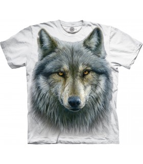 T-shirt Loup Guerrier Edition Spéciale Blanc The Mountain
