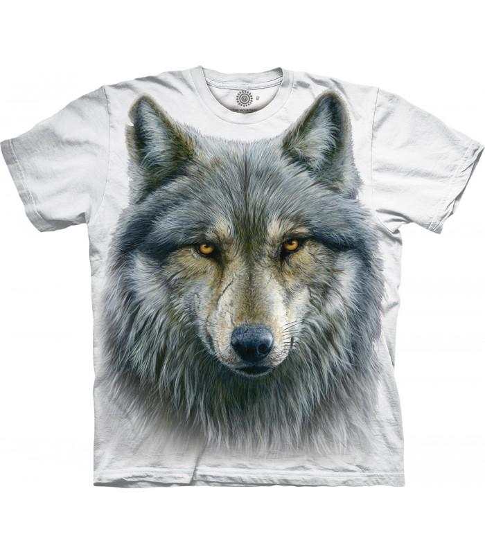 T-shirt Loup Guerrier Edition Spéciale Blanc The Mountain