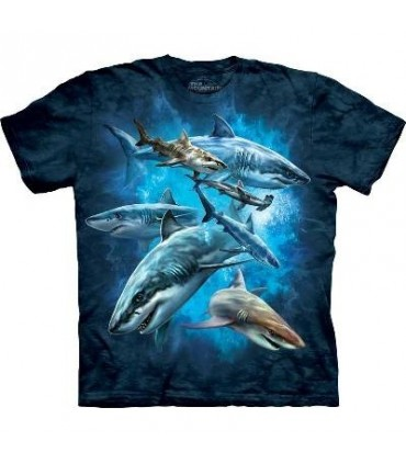 Shark Collage - Aquatics T Shirt by the Mountain