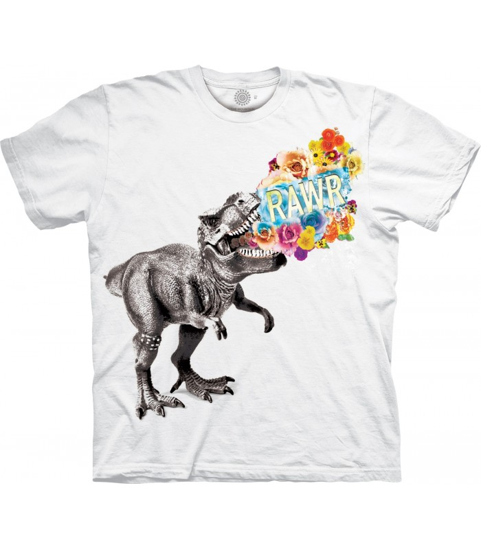 The Mountain Rawr Dinosaur Special Edition White T Shirt