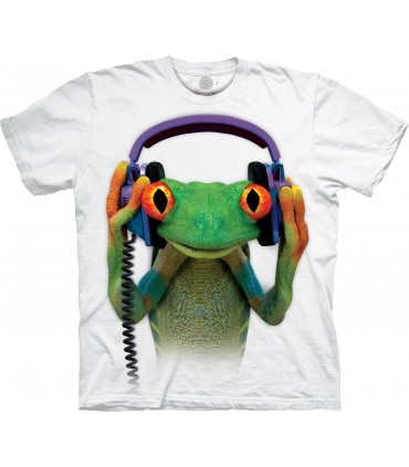 The Mountain DJ Peace Frog Special Edition White T Shirt