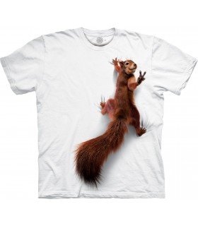 The Mountain Peace Squirrel Special Edition White T Shirt