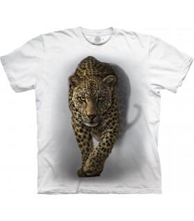 T-shirt Léopard Sauvage Edition Spéciale Blanc The Mountain