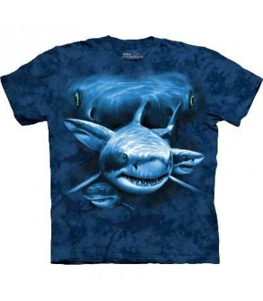 Shark Moon Eyes - Aquatics T Shirt by the Mountain