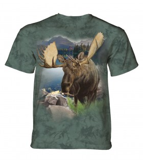 The Mountain Unisex Monarch of The Forest Moose T Shirt