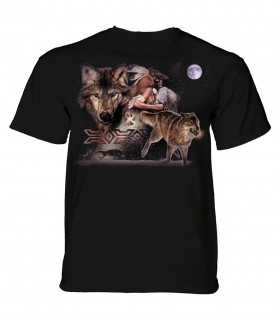 T-shirt adulte motif loup - The Mountain