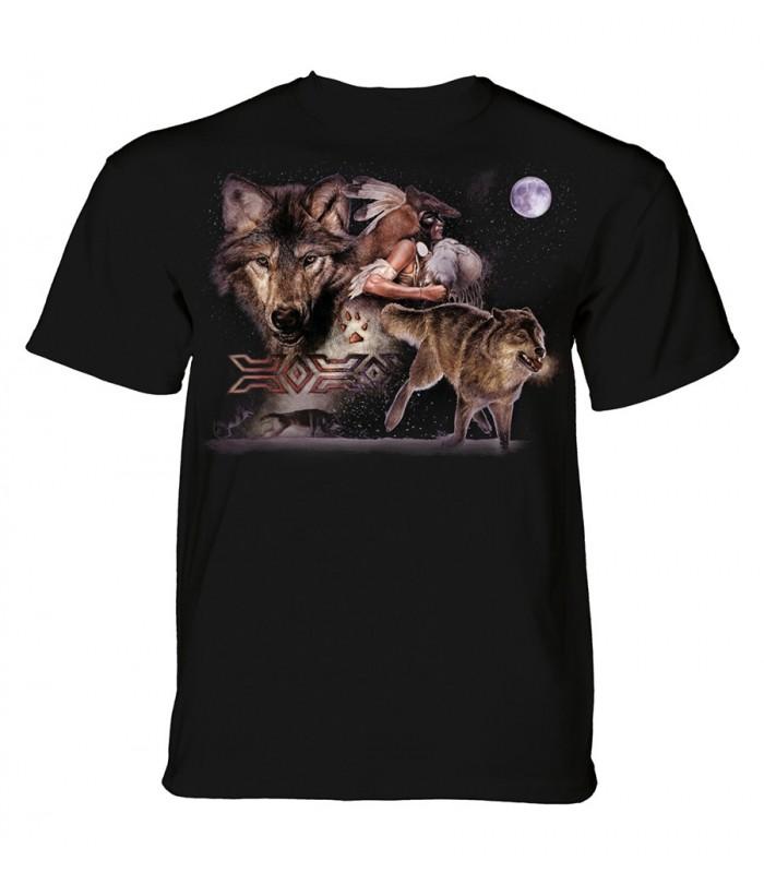 T-shirt adulte motif loup - The Mountain