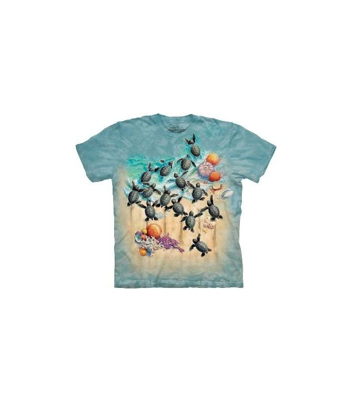 Green Turtle Hatchling - Aquatics T Shirt by the Mountain
