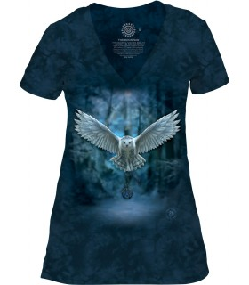 The Mountain Awake Your Magic Womens Tri-Blend Owl T Shirt
