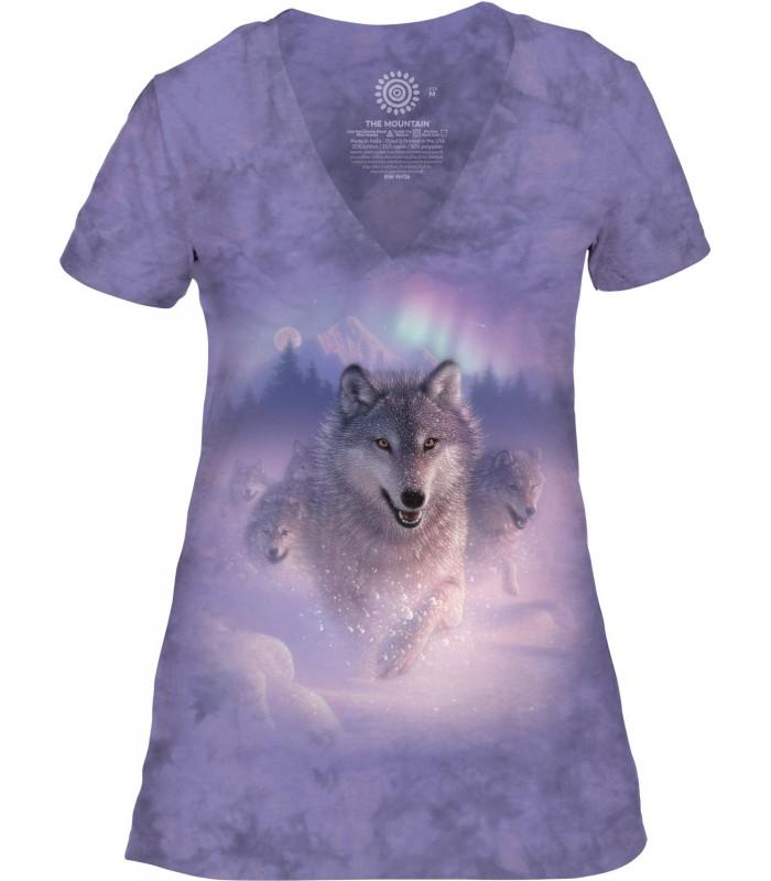 The Mountain Northern Lights Womens Tri-Blend VNeck T Shirt