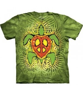 Rasta Peace Turtle - Aquatics T Shirt by the Mountain