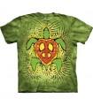 T-Shirt Tortue de Paix Rasta par The Mountain