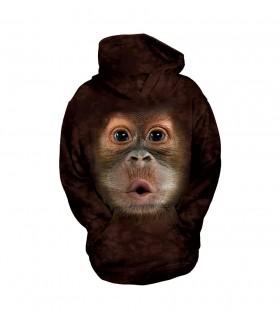 Sweat-shirt enfant motif Bébé Orang-Outan