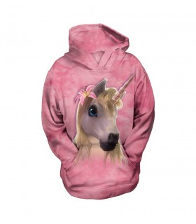 The Mountain Unisex Cutie Pie Unicorn Child Fantasy Hoodie