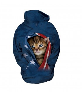 The Mountain Unisex Patriotic Kitten Child Pet Hoodie
