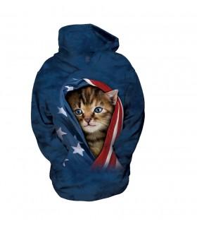 The Mountain Unisex Patriotic Kitten Child Pet Hoodie