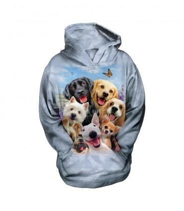 Sweat-shirt pour enfant motif Selfie de chiens - The Mountain