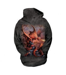 The Mountain Unisex Fire Dragon Child Fantasy Hoodie
