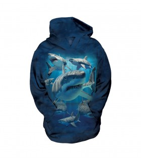 The Mountain Unisex Great Whites Child Aquatic Shark Hoodie