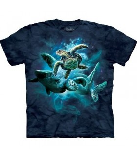 T-Shirt groupe de Tortues par The Mountain
