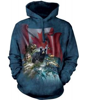 The Mountain Unisex Canada The Beautiful Child Animal Hoodie
