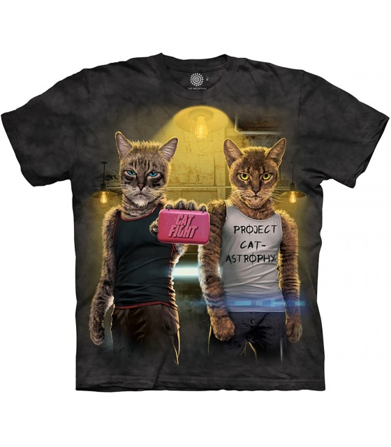 3a8f1f0a5581 The Mountain Cat Fight Pet Manimal Humour T Shirt