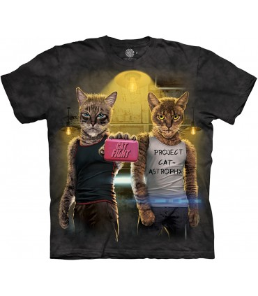 The Mountain Cat Fight Pet Manimal Humour T Shirt