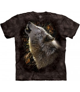 The Mountain Song of Autumn Wolf Animal T Shirt
