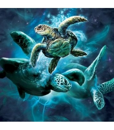 Sea Turtle Collage - Sealife T Shirt by the Mountain