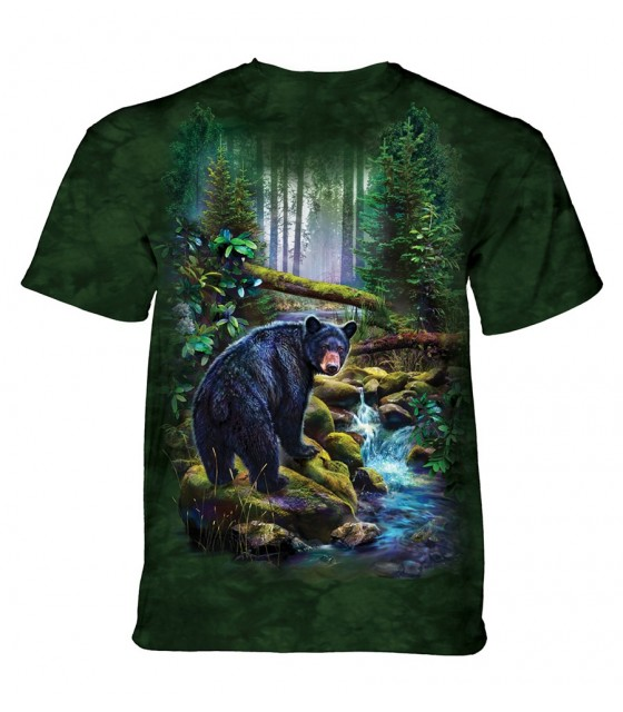 2cf69d64 The Mountain Unisex Black Bear Forest Animal T Shirt