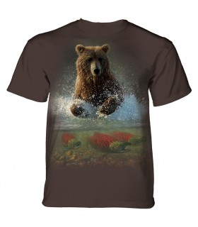 The Mountain Unisex Lucky Fishing Hole Bear Animal T Shirt