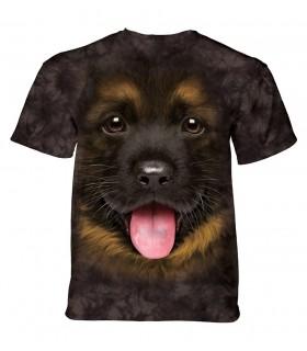 The Mountain Unisex Big Face German Shepherd Puppy T Shirt