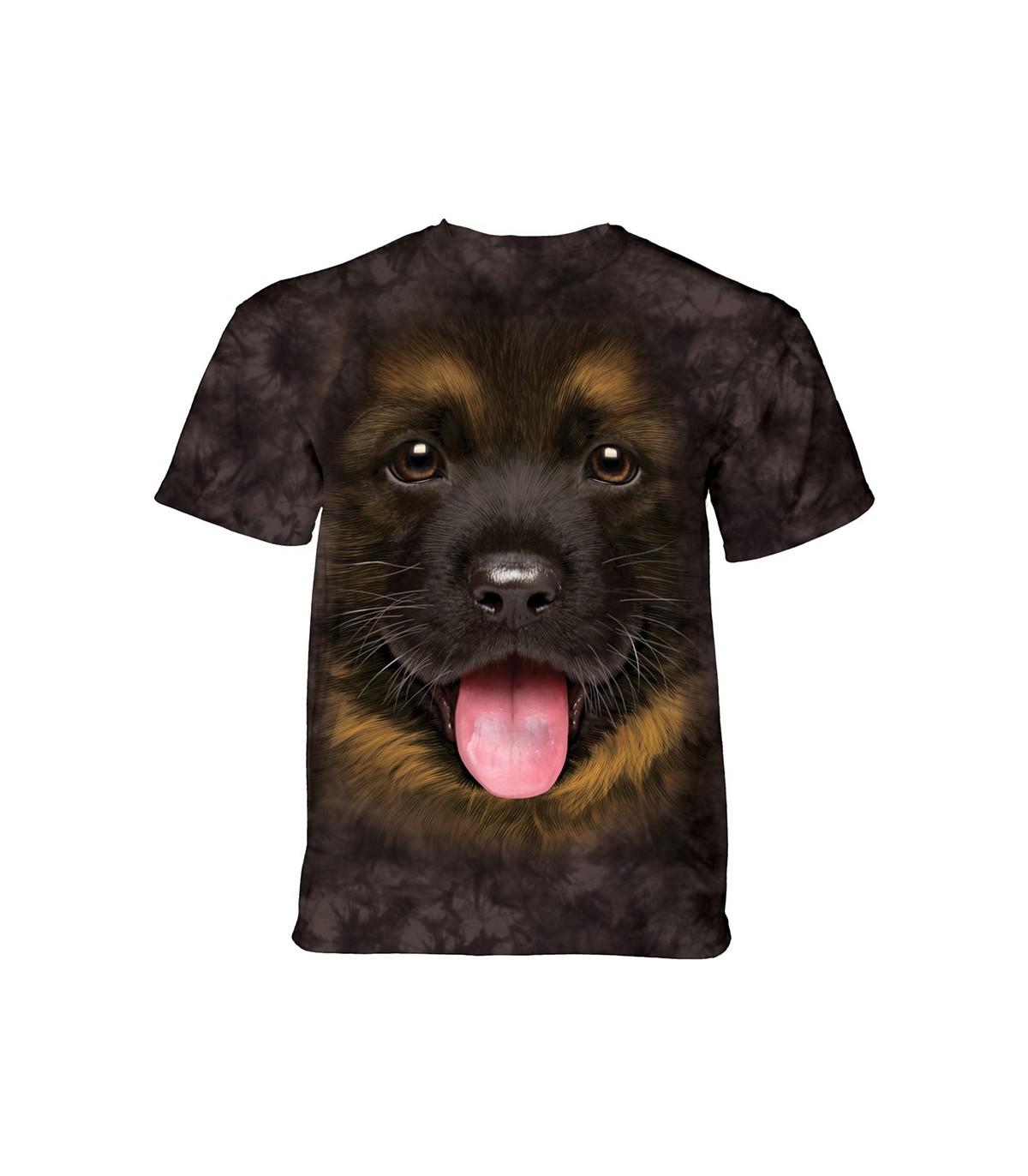 c0db05e35417f T-shirt chiot berger allemand unisexe adulte et enfant - The Mountain