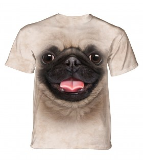The Mountain Unisex Big Face Pug Puppy Dog T Shirt