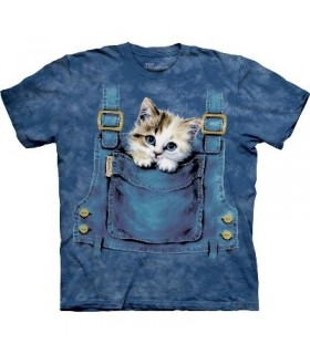 T-Shirt chaton dans la salopette par The Mountain