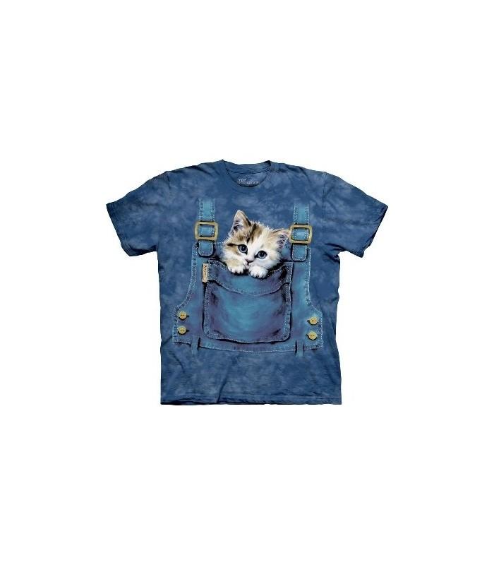T-Shirt chaton dans la salopette par The Mountain