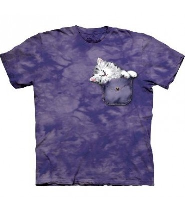T-Shirt chaton de poche par The Mountain
