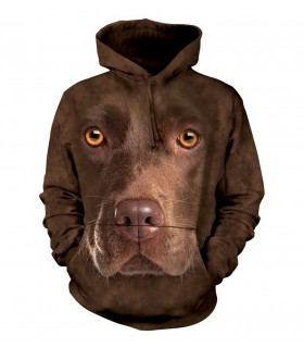The Mountain Unisex Chocolate Lab Face Adult Pet Dog Hoodie