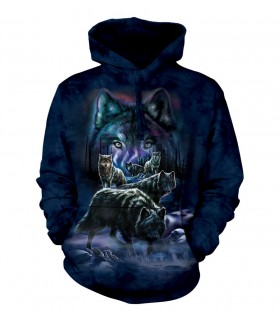 The Mountain Unisex Wolf Pack Adult Animal Hoodie