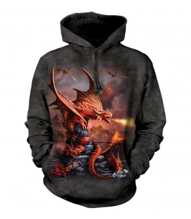 The Mountain Fire Dragon Adult Fantasy Hoodie