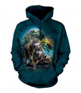 The Mountain Unisex Wolf Lookout Adult Animal Hoodie