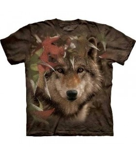 Autumn Encounter - Wolf T Shirt by the Mountain