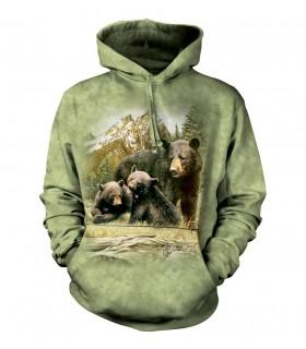 The Mountain Unisex Black Bear Family Adult Animal Hoodie