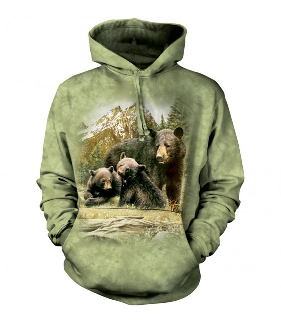 5078e067 The Mountain Unisex Black Bear Family Adult Animal Hoodie