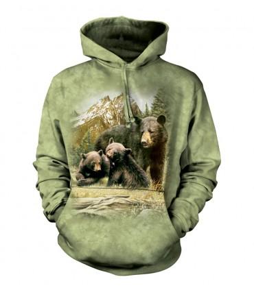 Sweat-shirt à capuche Ours Noir The Mountain