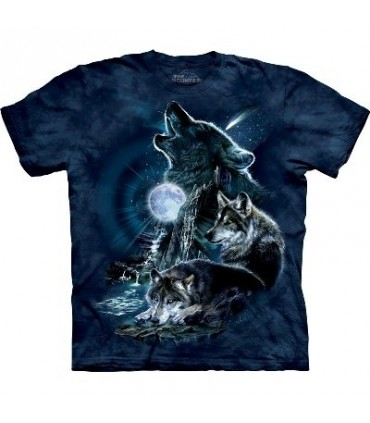 Bark At The Moon-Wolf T Shirt by the Mountain