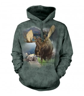 The Mountain Monarch of The Forest Moose Adult Animal Hoodie