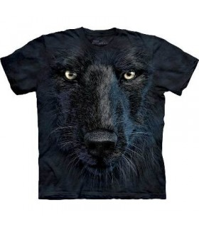 Black Wolf Face - Wolf T Shirt by the Mountain