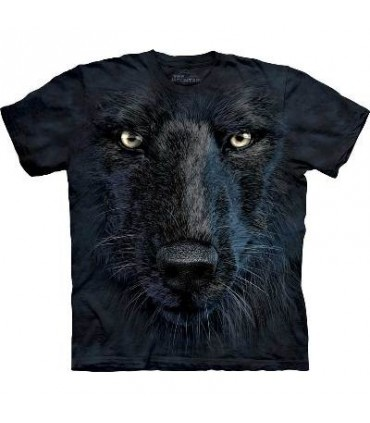 T-Shirt tête de loup noir par The Mountain